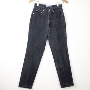 VTG 90s GAP Faded Black Denim Mom Jeans High Waist